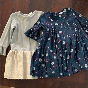 Other - Sz 4 fall dresses - set of 2 - EUC!!